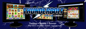 Thunderbolt Online Casino - Three different play options